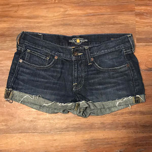 Lucky Denim Cut Off Shorts sz 0/25 ~ A161